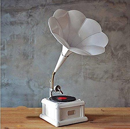 grammofono antico bianco l